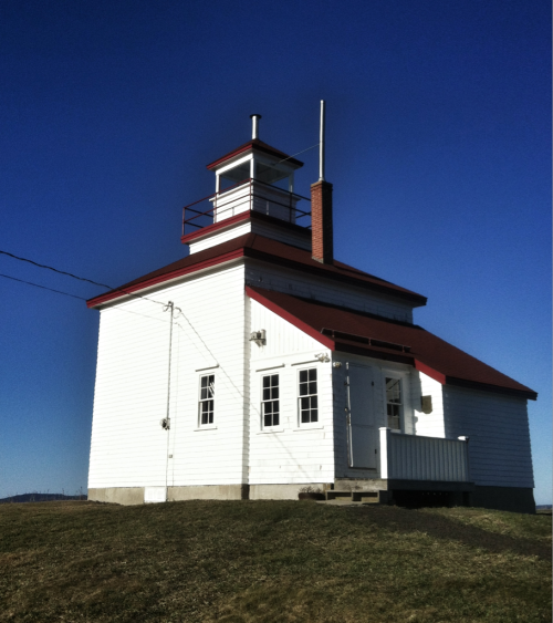 Gilbert's Cove Lighthouse near Weymouth, Nova Scotia (taken earlier this week). During the summer months a local community group operates a tea room and craft shop at the lighthouse. Love their homemade muffins.