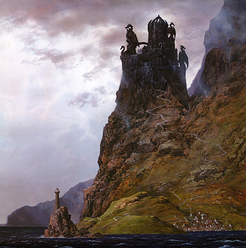 portionsofeternity:  Dragonstone by Ted Nasmith    Dungeon Inspiration