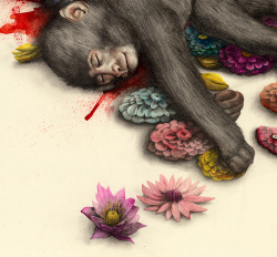 Blood monkey (detail2) (by kirsty.whiten)