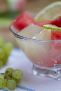 Grape & Lime Jelly with Watermelon