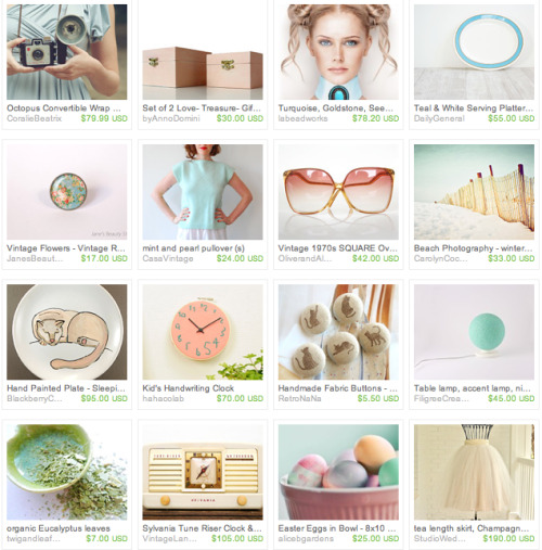 day in pastel colors; an etsy treasury.