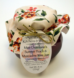 Miss Chatelaines Summer Peach and Muscadine Wine Jam