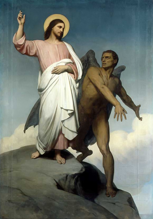 fountain-of-bile:  Ary Scheffer - The Temptation of Christ, 1854