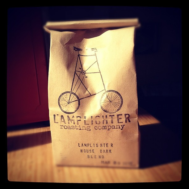 A Strong Cup of Happiness (Taken with Instagram at Lamplighter Roasting Co.)