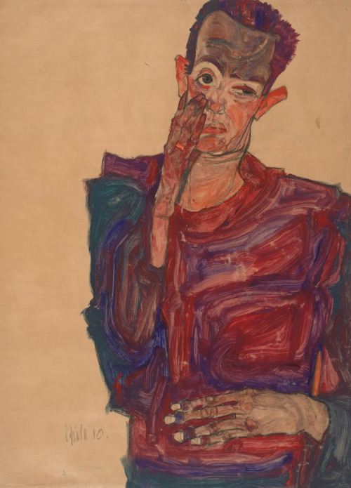 SELF-PORTRAIT, 1910 - Egon Schiele (1890-1918)