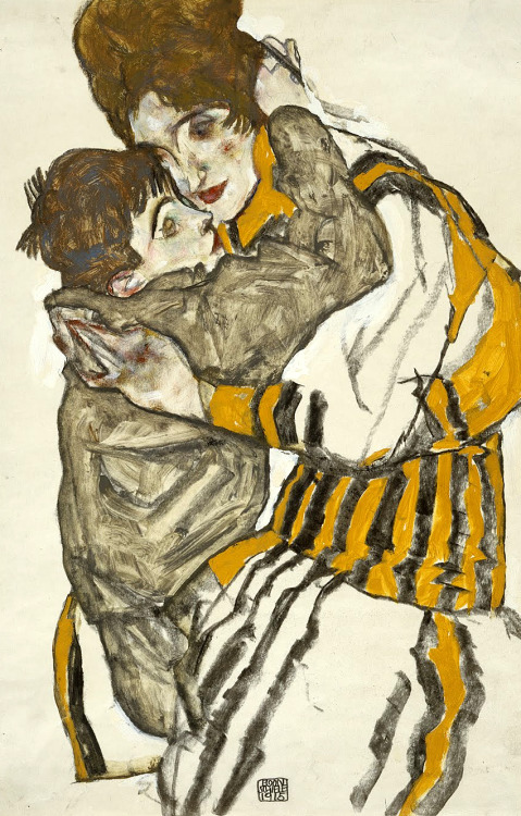 SCHIELE'S WIFE WITH HIER LITTLE NEPHEW, 1915 - Egon Schiele (1890-1918)