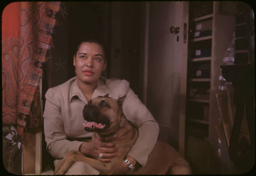 Billie Holiday, seen here with her beloved dog, Mister, in a photo by Carl Van Vechten, was born on this day in 1915. Little did Eleanora Fagan know that she would be remembered forever.