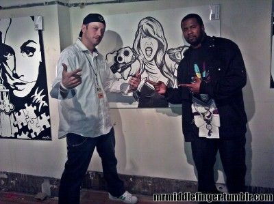 Me and Artist Kevin Bednarz at G40 Art Summit Richmond VA  www.DoubleDownDesigns.net