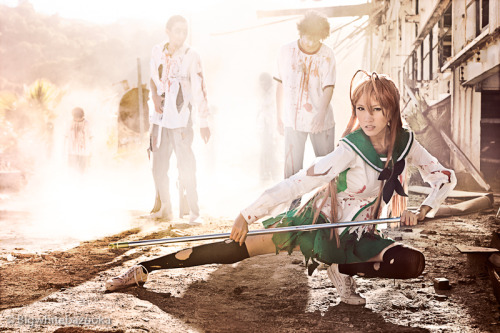 cosplaydaily:  Rei from Highschool Of The Dead