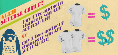 Hear Hear! Promotion is on for this month! Buy your favorite Baremelon tees and you get to win a voucher in return!  p.s. take the chimp seriously.