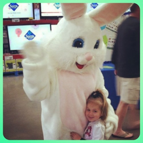 Who knew Sam's Club has the Easter Bunny?!  (Taken with instagram)