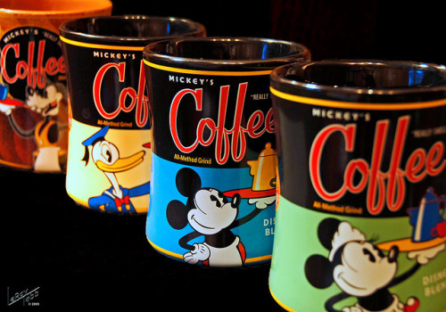Disney Coffee Mugs by TabbPix on Flickr.