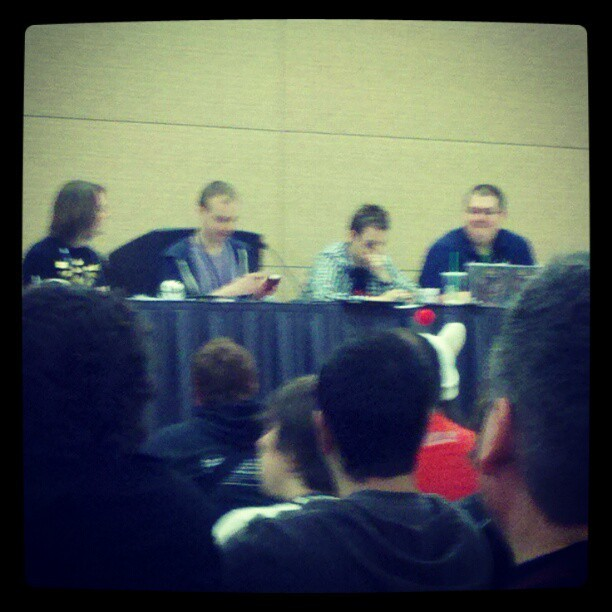 WoW Insider panel (Taken with instagram)