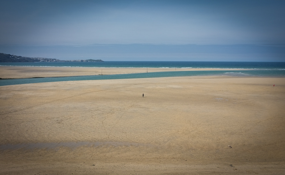 Self portrait, Hayle Beach.