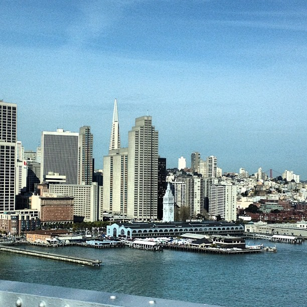 Beautiful day in #sanfrancisco perfect for visiting the farmers market at the Ferry Building! (Taken with instagram)