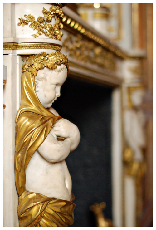 Detail of a mantelpiece in the private apartments of Louis XV.