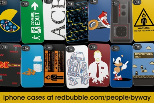 You can now buy some of my designs as iPhone cases over at my RedBubble store, redbubble.com/people/byway!