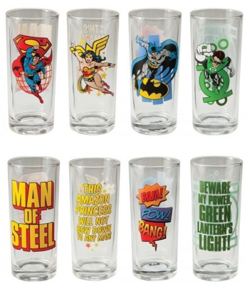 DC Comics Superhero 4-Piece Collector Glass Set