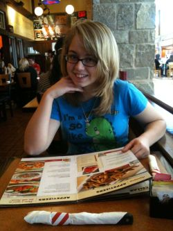 Me and Bekah at TGI Friday in Castleton Mall.