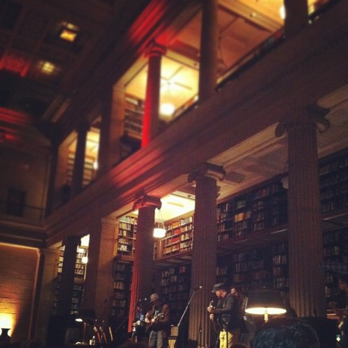 The Pines played at the beautiful James J. Hill Library in March. I'd never been there before. A beautiful place! Might have to try to finagle some study time there.
