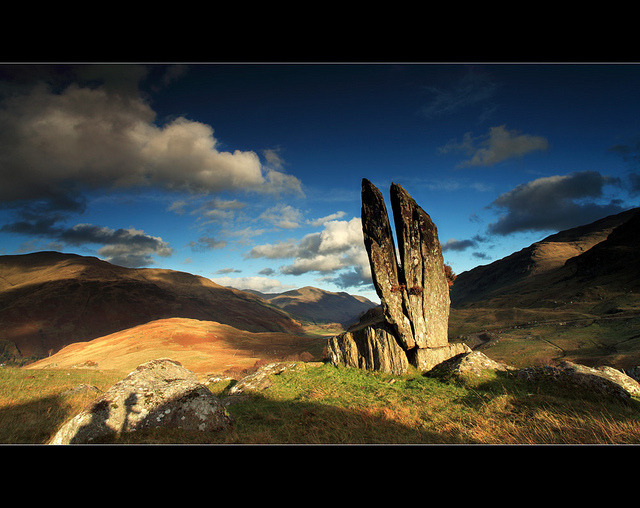 Split Stones Glenlyon by angus clyne on Flickr.