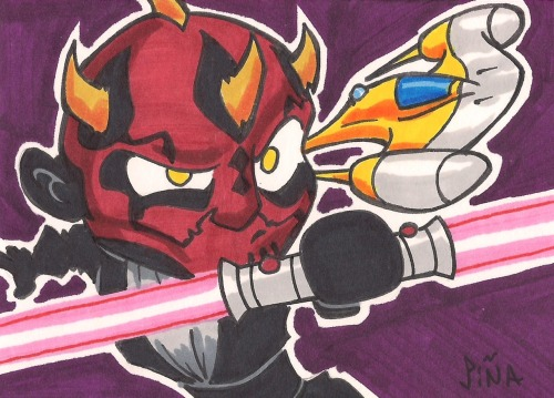 Darth Maul is dangerous… even in Chibi form!