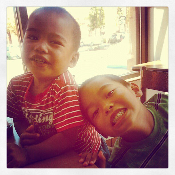 Lunch with my nephews :) (Taken with instagram)