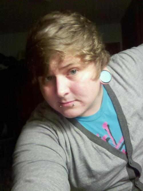 This is me. Girltalk shirt from hottopic. Cardigan from cottonon. Plugs from kingsbodyjewelry.com  scolley.tumblr.com