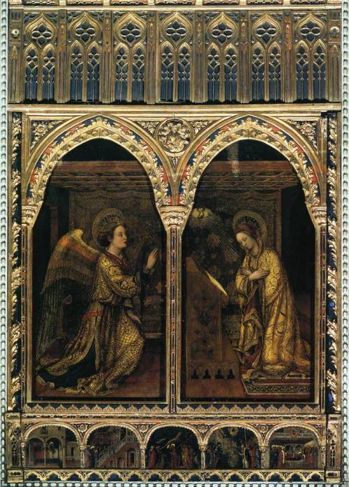 artexpertsinc:  Annunciation 1444 by Jacopo Bellini (1396 - 1470)
