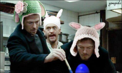 lucyyfrost:  normanreedusaddicts:  LOL happy Easter everyone  OMG  HAHAHA