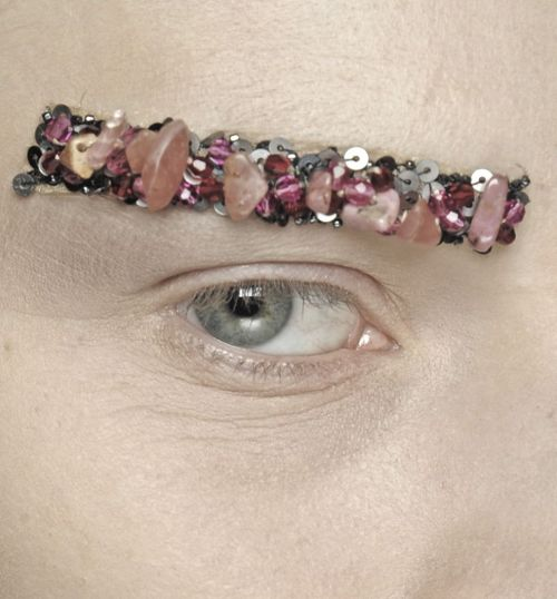 showstudio:  Chanel eyebrows.