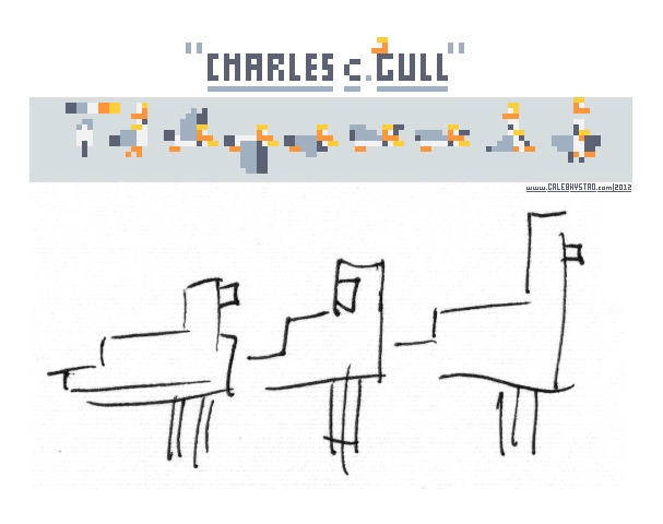 benbrown:  8x8pixels:  Here are my original 'pixel' sketches for Charles, and his finished sprite sheet. I added the trucker hat later on to give him some character, which is tough to do at this pixel count. If you haven't tried my game yet, it's free on the iPhone! Charles C. Gull  Get it!