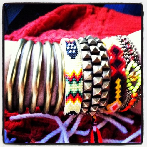 My Saturday #armparty #HenriCuff #SloaneCuff #UmbilicalBracelet #MrDannijo (Taken with instagram)