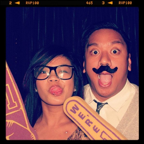 8) @darkmarc #funny #photobooth #lakers #glasses #love (Taken with instagram)