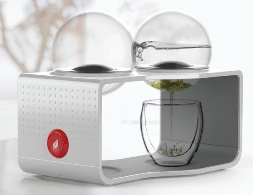 plethorial:  The Bodum Coffee & Tea Maker: The Bodum Coffee & Tea Maker is unlike any I've seen before. A borosilicate glass reservoir & beverage filter are integrated as detachable modules, making the coffee or tea completely spill-proof. The engagement of brewing process is revealed in one central, elegant device. A new chapter in both coffee & tea culture! Designed by Sunny Ting Tai Wong