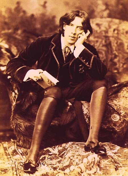 fuckyeahhistorycrushes:  Oscar Wilde (1854-1900) Irish-born writer of many great works of literature in English such as, The Picture of Dorian Gray,  and so on. After writing the previously mentioned book, he was said to have distanced himself from his family and take on a sexual double life hooking up with a man, Lord Alfred Douglas, but was accused for it and was sent to hard labor a few years before he died.