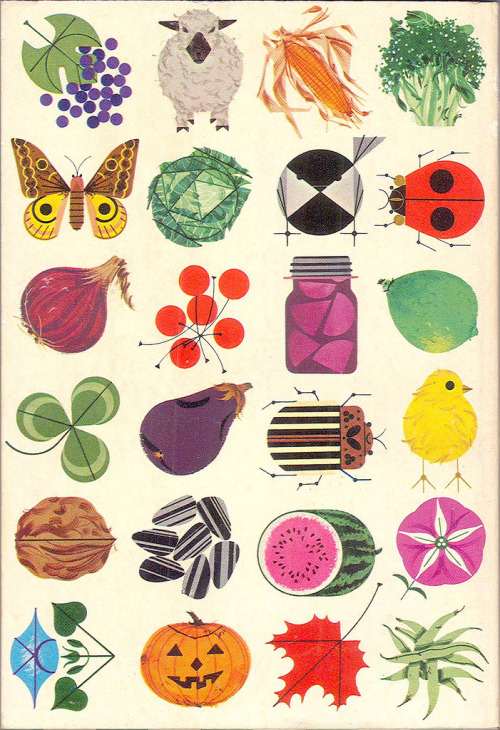 Back cover of the 1964 Ford Almanac, illustrated by Charley Harper