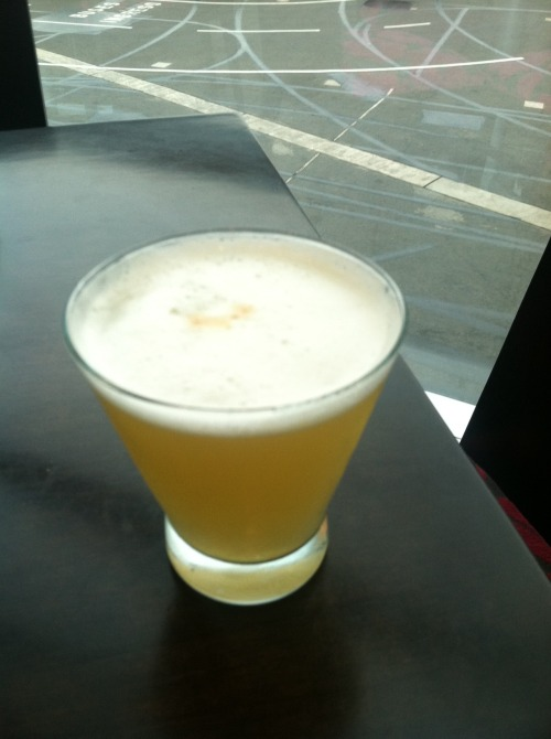 Double pisco sour. Airport in Lima, Peru.