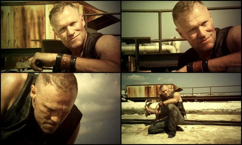 morphineandscissors:  Merle Dixon   Can't wait for this hot mess to come back next season.