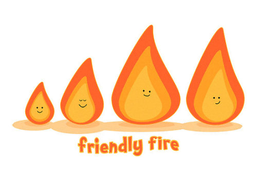 """Friendly fire"" by Emma Harckham 