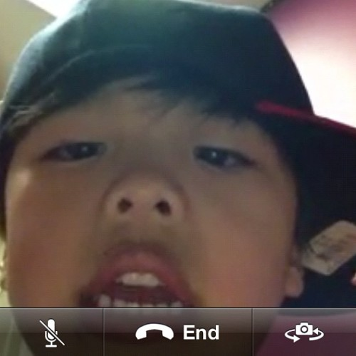 Facetiming with my nephew!!  So cute!   (Taken with instagram)