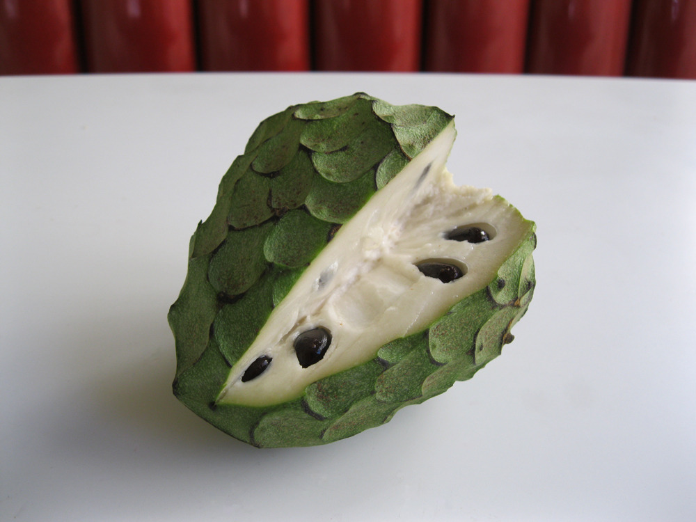 Cherimoya. Breakfast this morning. Springtime = lots of tropical fruit :)