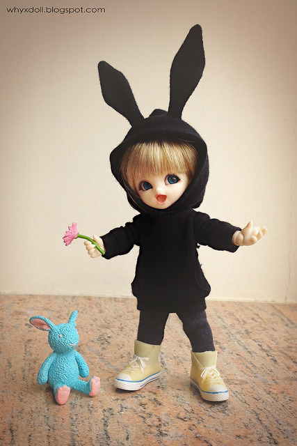 Black Rabbit by H.yan@handmade on Flickr.