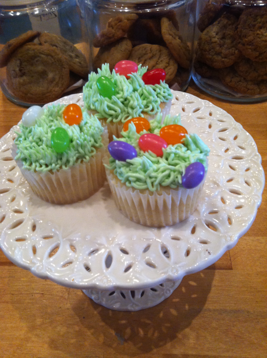 on the hunt for Easter goodies? stop by Lovely for cutesy cupcakes galore!