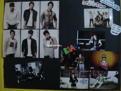 B1A4 and 2PM on my wall. I hope to have more pictures of them soon ^-^