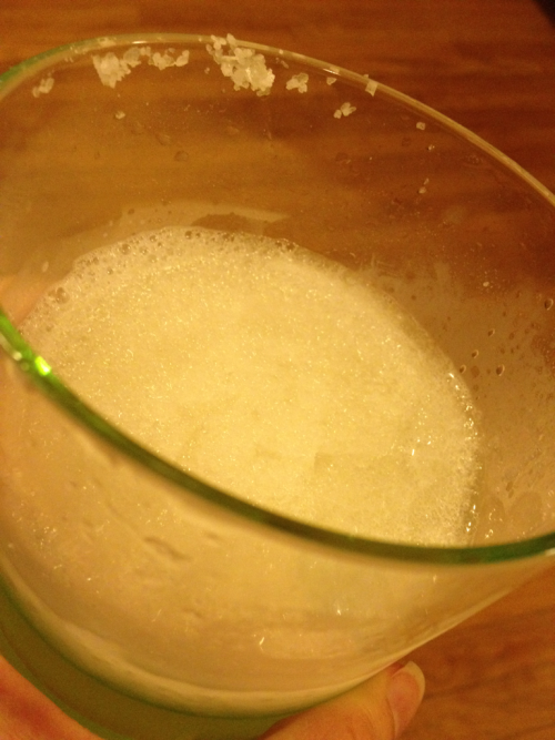 Disappointing truth:  I made this frozen margarita and now I'm not really interested in drinking it.