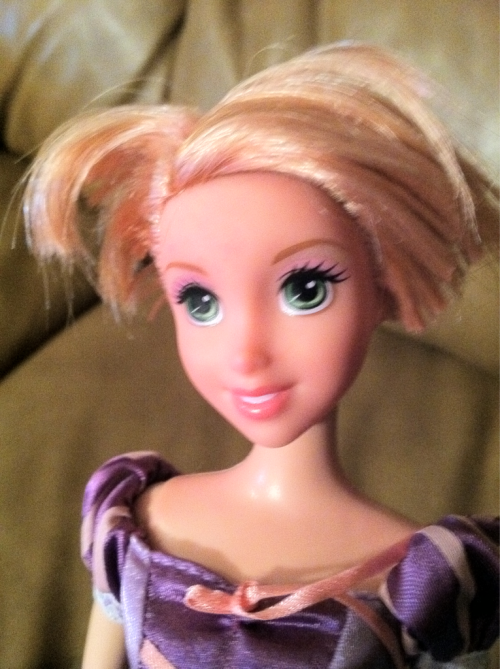 Rapunzel's trying out an errrm, new hair 'do! Flynn went a little crazy this time!