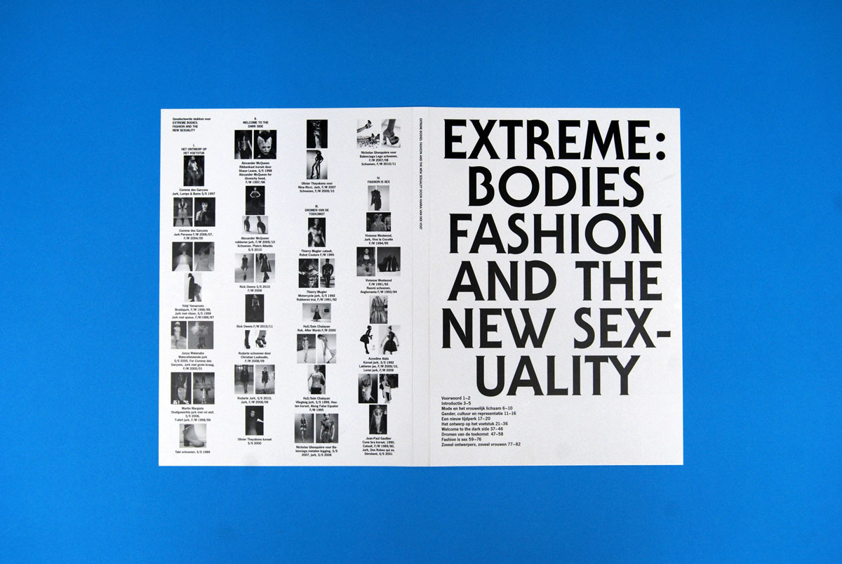 Extreme Bodies Fashion and the New Sexuality by Hanka van der Voet, June 2010 Catalogue with a series of six A0 posters folded into A4 (via Index)