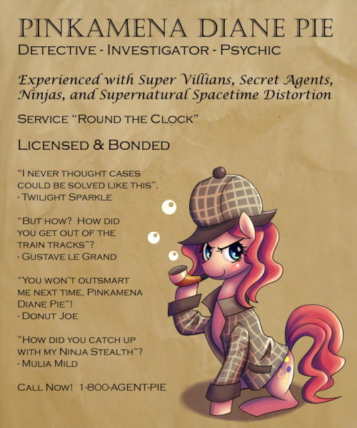 Because Detective Pinkie is now Canon.