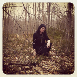 Me hiding in the woods…